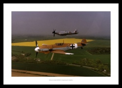 Messerschmitt & Spitfire Classic Aviation Photo