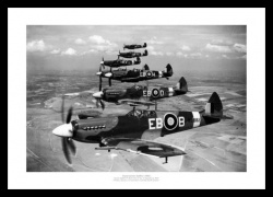 Spitfire Squadron - Historic 1944 Aviation Photo Memorabilia