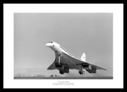 Concorde First UK Flight Historical Aviation Photo