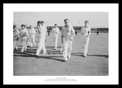 Jim Laker 19 Wickets  - England v Australia 1956 Cricket Photo