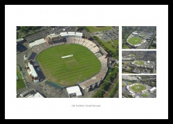 Old Trafford Cricket Ground Aerial Views Photo Montage