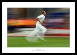 Ashes 2009 Print - Stuart Broad Runs in to Bowl