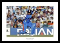 Sachin Tendulkar Memorabilia - 2011 World Cup India Cricket Photo