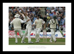 Andrew Flintoff Memorabilia - 'Ponting's Wicket' 2005 Ashes Print