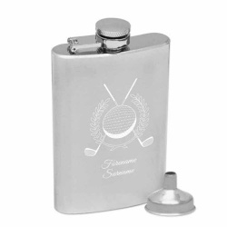 Personalised Golf Engraved Hip Flask