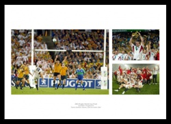 England Rugby Memorabilia - 2003 Rugby World Cup Final Print Montage