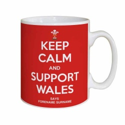 Wales Rugby Personalised 'Keep Calm' Mug