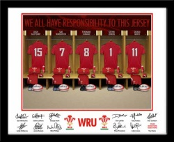 Personalised Wales Rugby Dressing Room Photo