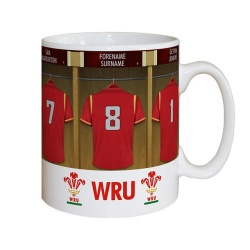 Wales Rugby Personalised Dressing Room Mug