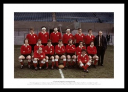 Wales 1971 Grand Slam Rugby Team Photo Memorabilia