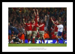 Wales Rugby Print - 2008 Grand Slam Celebrations Memorabilia