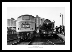 Flying Scotsman 1968 Steam Train Photo Memorabilia