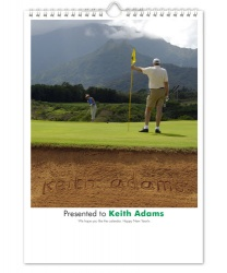 Golf Calendar with Personalised Images