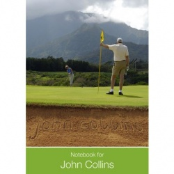 Personalised Golf Notebook