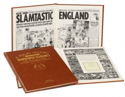 Personalised Rugby Six Nations Historic Newspaper Memorabilia Book