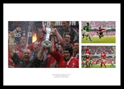 Wales Rugby Memorabilia - 2005 Grand Slam Print Montage
