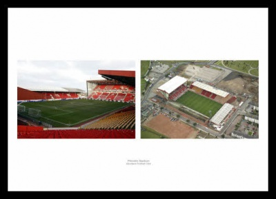 Aberdeen FC Inside Pittodrie Stadium Photo Memorabilia