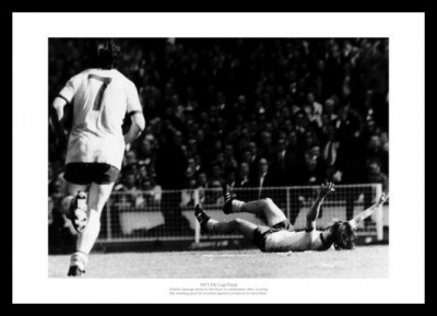 Arsenal 1971 FA Cup Final Charlie George Goal Photo Memorabilia