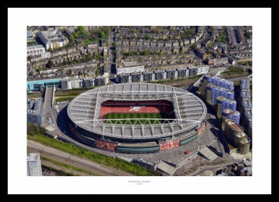 Arsenal FC Emirates Stadium Aerial Photo Memorabilia