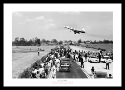 Concorde's First UK Flight Watched by Crowd 1969 Photo