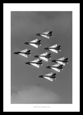 RAF Lightnings in Formation 1964 Aviation Photo