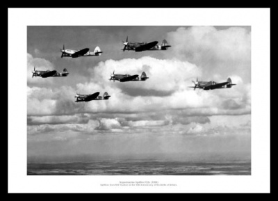 Spitfire 10th Anniversary of Battle of Britain 1950 Photo