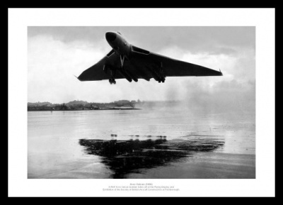 RAF Avro Vulcan Bombers Taking Off 1965 Aviation Photo