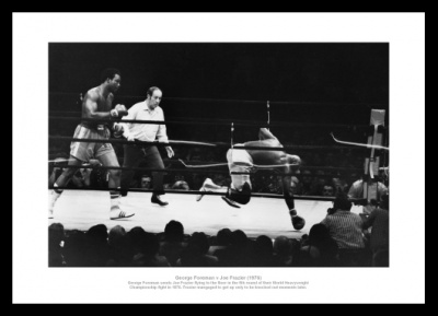 Georg Foreman v Joe Frazier 1976 Boxing Photo Memorabilia