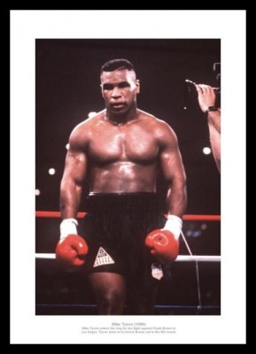 Mike Tyson v Frank Bruno Photo Memorabilia