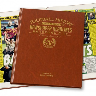 Personalised Bradford City Historic Newspaper Memorabilia Book