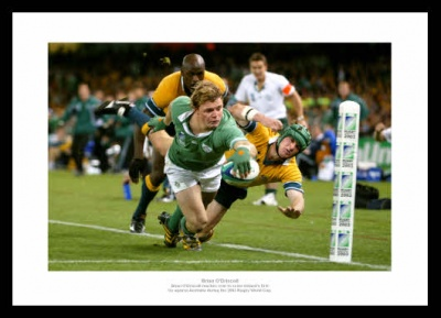 Brian O'Driscoll 2003 Rugby World Cup Photo Memorabilia