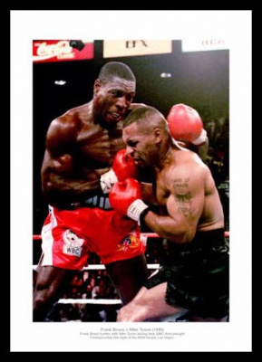 Frank Bruno v Mike Tyson 1996 Heavyweight Boxing Photo Memorabilia