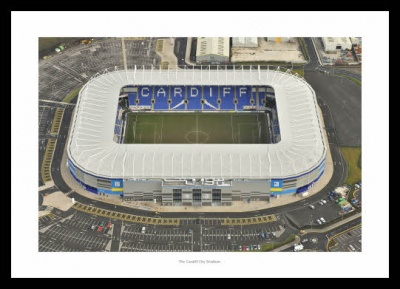 The Cardiff City Stadium Aerial Photo Memorabilia