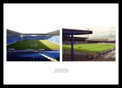 Cardiff City Stadiums Old and New Photo Memorabilia