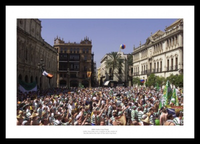 Celtic FC Fans 2003 UEFA Cup Final Photo Memorabilia