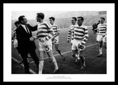 Celtic FC Jock Stein & Billy McNeill 1965 Photo Memorabilia