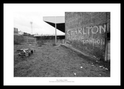 Charlton Athletic Derelict Valley 1988 Historic Photo Memorabilia