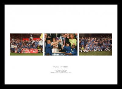 Chelsea in the 1990s Photo Memorabilia Montage
