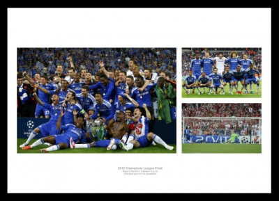 Chelsea 2012 Champions League Final Photo Memorabilia