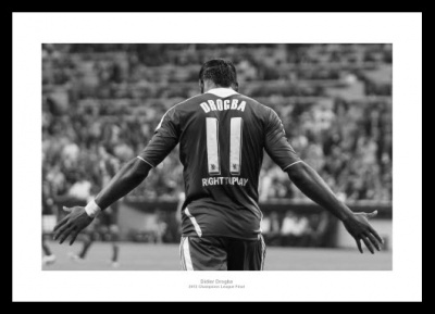 Chelsea FC 2012 Champions League Final Drogba Celebrates Photo Memorabilia