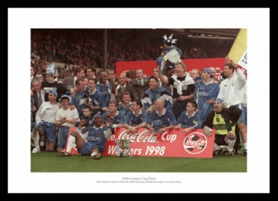 Chelsea 1998 League Cup Final Celebrations Photo Memorabilia