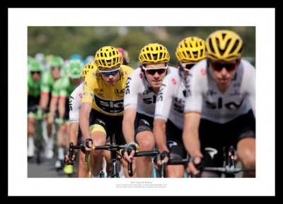 Chris Froome Team Sky Train 2017 Tour de France Photo Memorabilia
