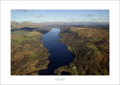 Lake District Coniston Water Aerial Landscape Photograph