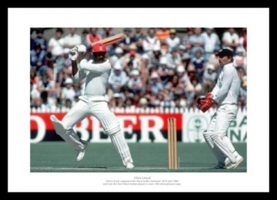 Clive Lloyd West Indies Cricket Legend Photo Memorabilia