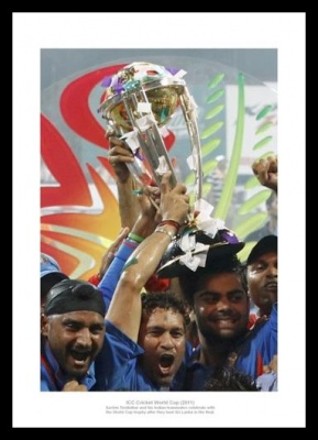 India 2011 Cricket World Cup Champions Photo Memorabilia