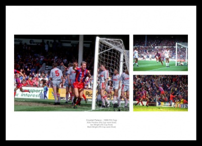 Crystal Palace 1990 FA Cup Photo Memorabilia