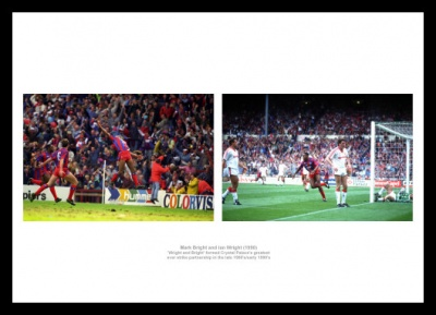Crystal Palace Ian Wright & Mark Bright Photo Memorabilia
