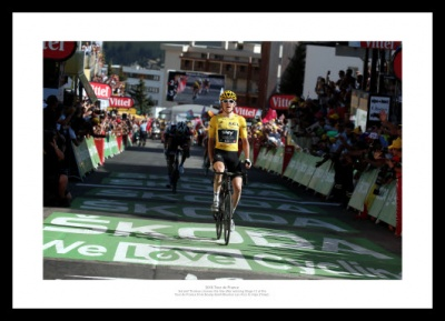 Geraint Thomas 2018 Tour de France Alpe d'Huez Stage Victory Photo Memorabilia