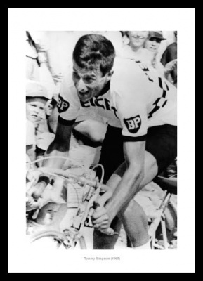 Tommy Simpson 1965 Cycling Photo Memorabilia