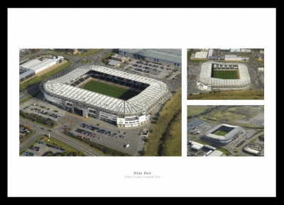 Derby County Pride Park Stadium Aerial Photo Memorabilia
